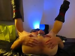TopDawg fucking Leather Bottom Daddy Bareback on Back