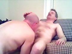 Dad engulf his babe's jock