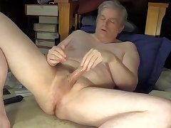 Dad's naked masturbation