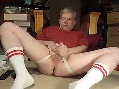 dad masturbating in socks and rod