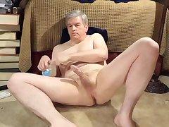 Naked Daddy masturbating