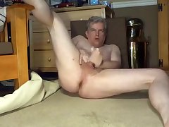 Daddy's bare, widen legged jerkoff