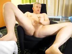 Dad's hotel room jerkoff