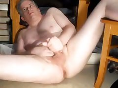 Daddy's widen leg jerkoff