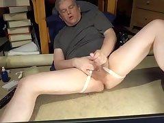 Daddy masturbating in jockstrap