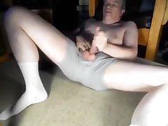 Daddy's widen open masturbation