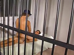 Older Convict Rides Young Twink's Cock