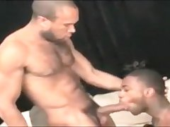 Amazing male in horny interracial gay adult scene