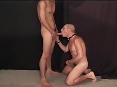 Bald Leather Daddy Getting Pounded