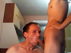 Daddy Sucks His Son For Pay 1st Time On Cam Romania