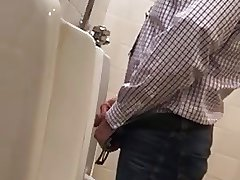 Spying daddy in urinal