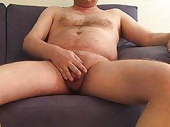 mature exhibitionist - posing (blue sofa pt. 3)