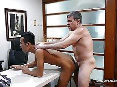 Daddy Fucks Asian Boy Joshua Raw