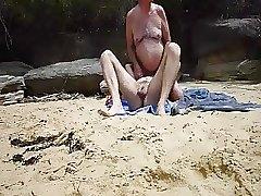 nat throatfucks and rims a guy at the beach