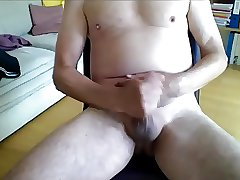 Silver daddy cum all over his body