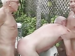 Three Grandpas on the Swimmingpool