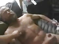 Hot bear Masturbating