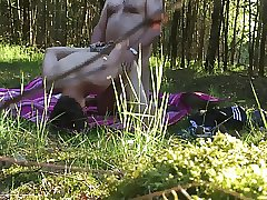 public fuck in the forest cruising bareback