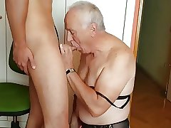 I give an Old Man my Load of Cum