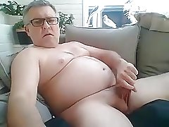 Dad Plays With Cock