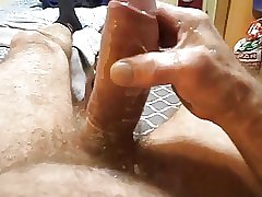 Dad Breaks Condom While Jerking It