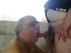 Old men sucking another old men's cock