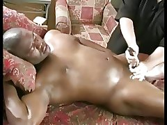 Black daddy shoots a heavy cum