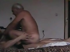 Grandpa rides on the other man's penis