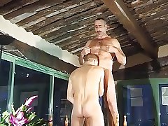 Horny gay dudes fucking in the garden