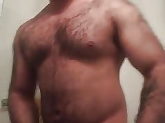 Hung hairy bear