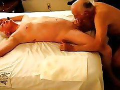 Two mature older man having sex with each other