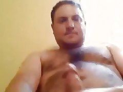 Handsome bear cumming quickly