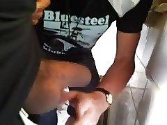 Old Man in public toilet