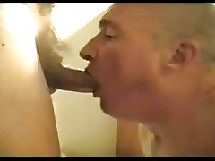 Daddy playing with a nice cock