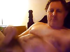 Gorgeous daddy stroking