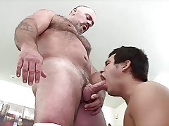 Latin Boy Gets Fucked By Bear