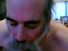 getting blown by bearded daddy bear