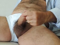 Hairy Mature Solo Cumshot