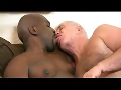 interracial daddy kiss