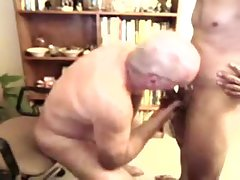 Old men sucking a younger men