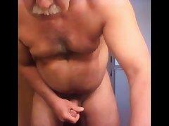 Old cum on cam