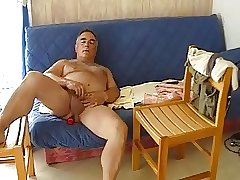 Mature older men masturbating