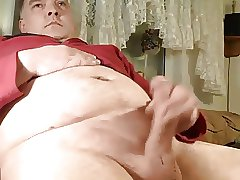 Big daddy bear jerking