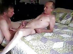 Young boy suck cock for slim older men