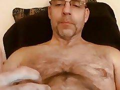 Very hot daddy cumming hard