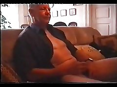 Grandfather playing with his own dick