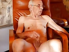 Sexy old men masturbating