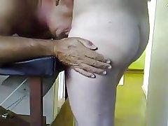 During massage sucking