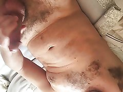 Wanking my big cock (with cum)
