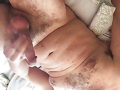 Wanking my big cock (with cum)